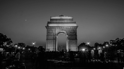 India gate at night New Delhi