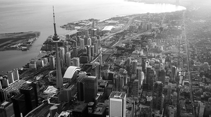 Aerial view of Toronto city