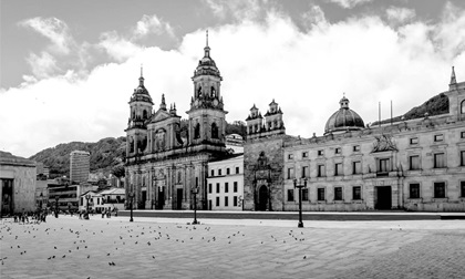 Bolivars Square and Cathedral in Bogota