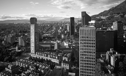 Financial district of Bogota Colombia