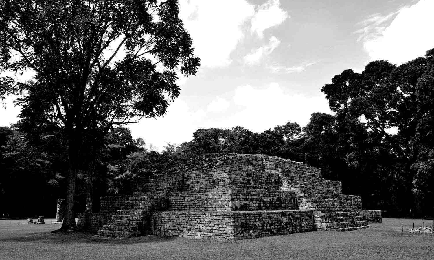 Ancient pyramid at pre-columbian city of Copan