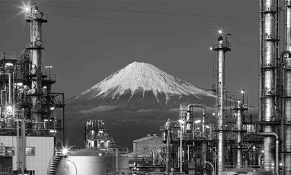 Mountain Fuji and Japan industry zone from Shizuoka prefecture