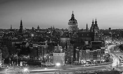 View of Amsterdam skyline