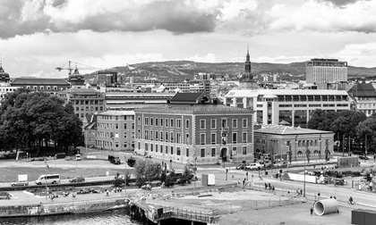 View of the City Center of Oslo, Norway