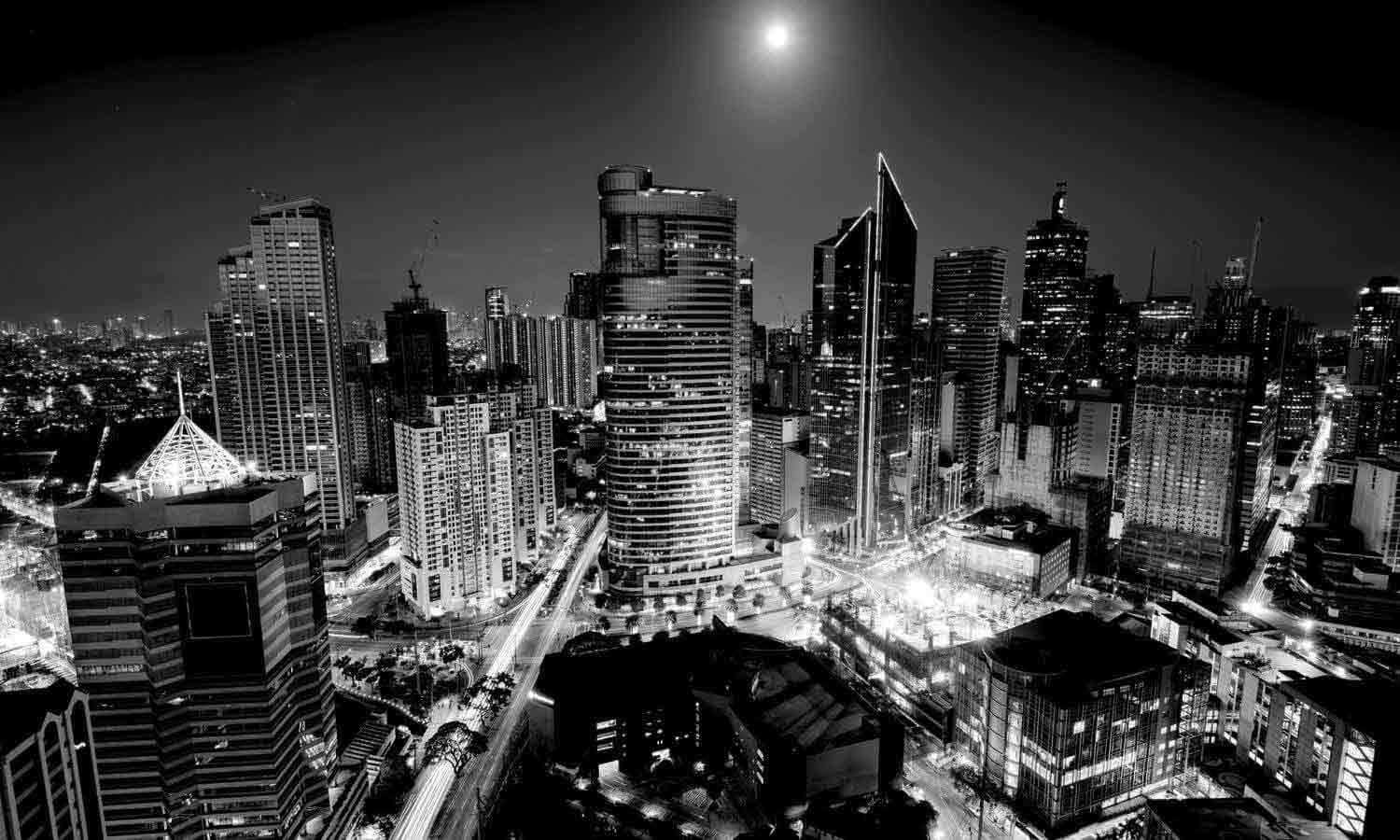 Night view of makati skyline