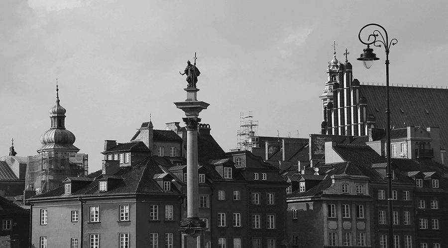 view of castle square with sigismund column in old town warsaw