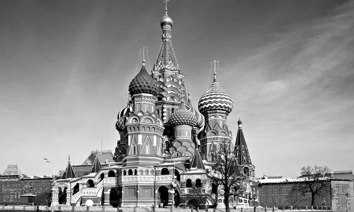 view of st basil cathedral on red square