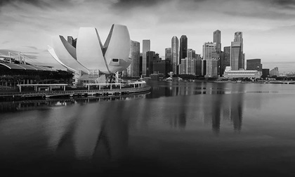Singapore cityscape skyline at marina bay