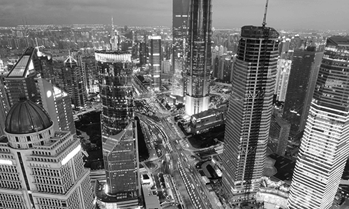 Shanghai Pudong banking and business district