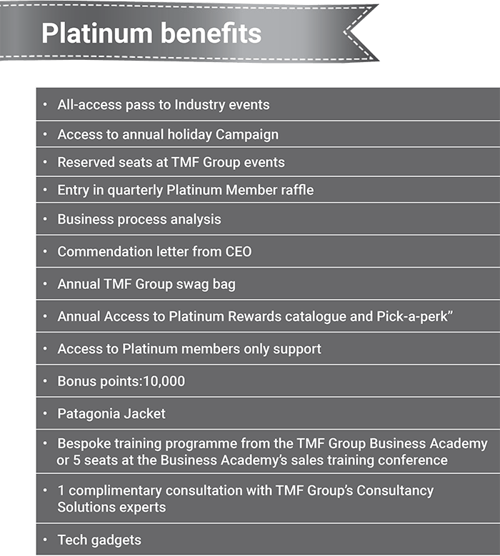Platinum benefits