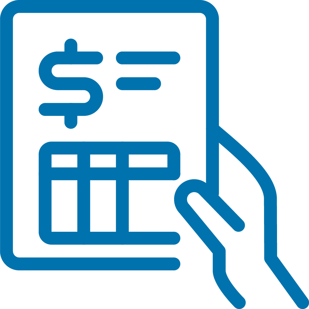 Accounting invoice icon