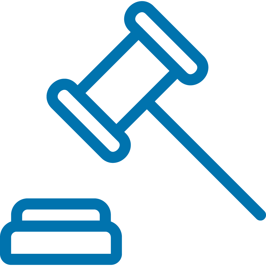 Legal hammer icon