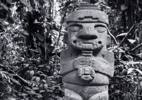 Ancient statue in a jungle