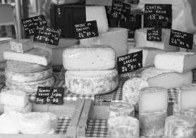 cheese market in France