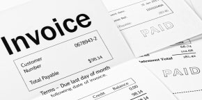 Invoices with paid stamps