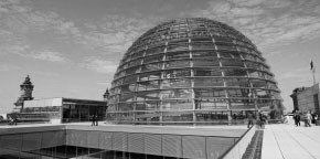 Glass dome architecture of the German Parliament