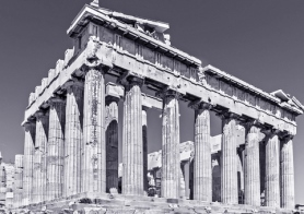 Image of the ruins of the Parthenon in Athens, Greece