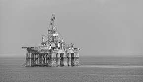 Gas platform off Israel
