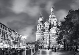 Church of the Resurrection of Christ (Saviour on Spilled Blood), evening, St. Petersburg, Russia