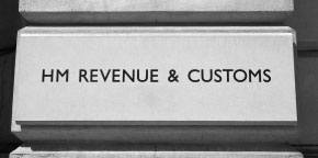 Her Majesty's Revenue and Customs sign on a building